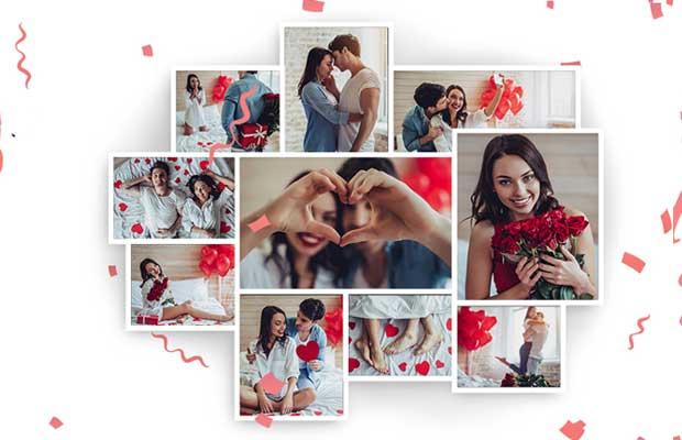 Романтичен фотоколаж за Свети Валентин