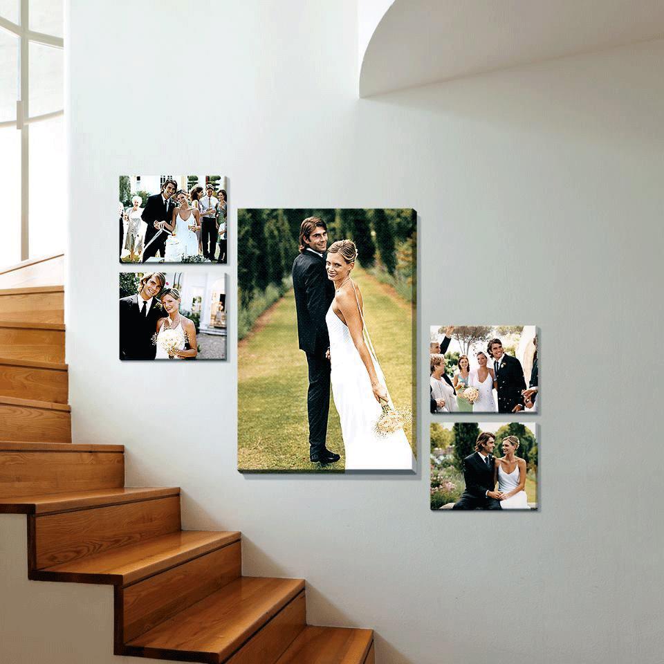 картина от сватбена снимка